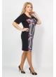 платье Марта (принт/черный)