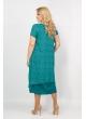 Платье Твинго (зеленый/ принт огурцы)