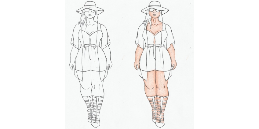7 способов выглядеть стройнее для женщины Plus size