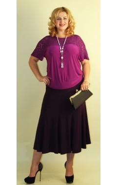 Юбка Десятиклинка (фиолет)
