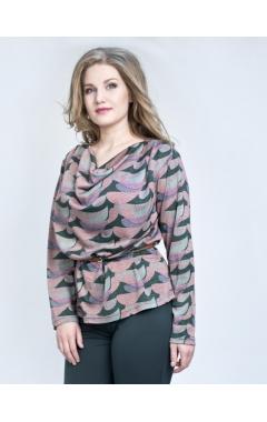 Блуза Алина (розовый принт)
