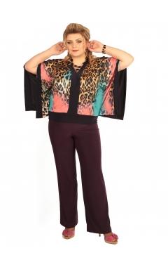 Блуза Анкара (цветной леопард)