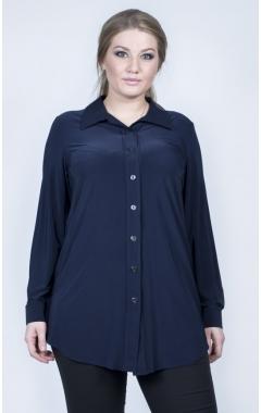 """Блуза """"Натали гипюр"""" (темно синяя)"""