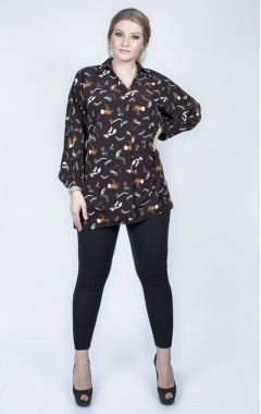 Блуза Татьяна (шоколад)