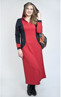 Платье Олимп (красный/темно-синий)