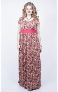"""Платье """"Лана"""" (розовый/цветы)"""