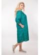 Платье Санта (зеленый/принт огурцы)