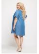 Платье Джинс (голубой/горох)