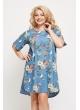 Платье Джинс (синий/цветы)
