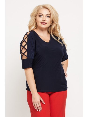 Блуза Румба (тёмно-синий)
