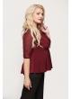 Блуза Баска 2 (бордо)