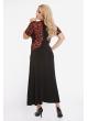 платье Каролина (черно-красное)