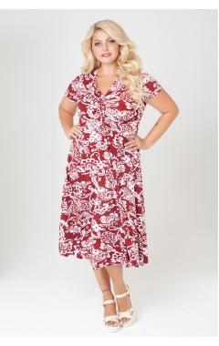 платье Флер (орнамент красный)