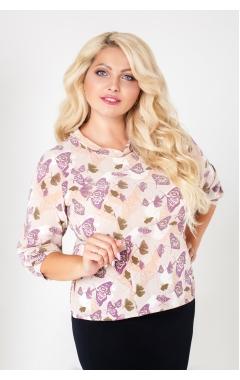 блуза Сара (бежевый/бабочки)