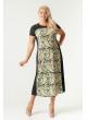 платье Селеста (зелёный/принт)