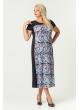 платье Селеста (голубой/принт)