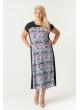 платье Селеста (розовый/принт)