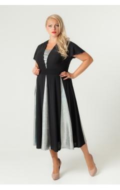 платье Фиеста (чёрный/серебро)
