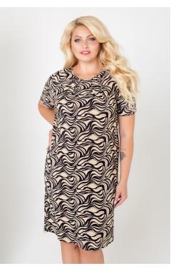 платье Каприз2 (черный/бежевый)
