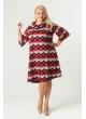 Платье Берта (принт/красный ромб)