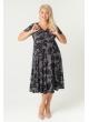 платье Флер (чёрный/принт)