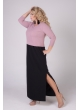 платье Бренда (чёрный/розовый)