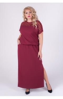 платье Глория Люкс (бордо)