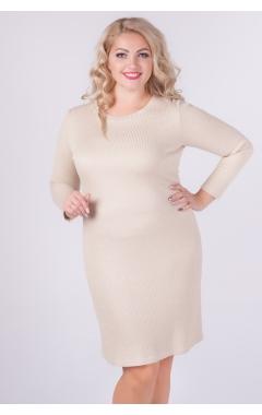 платье Люрекс (бежевый)