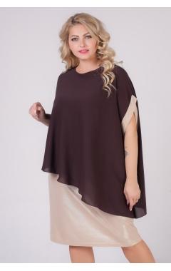 платье Соната2 (золотой/коричневый)
