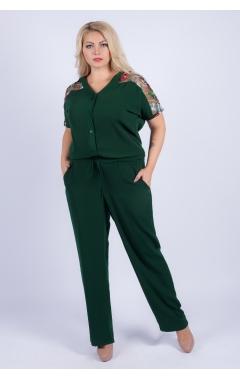 Комбинезон Аля (зелёный/крупный принт)