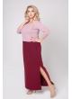 платье Бренда (бордовый/розовый)