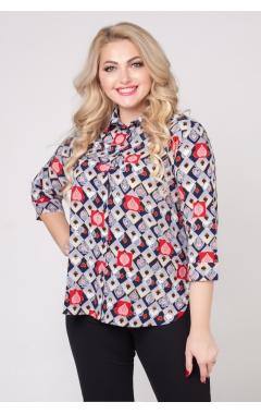 блуза Подиум (серый/карты)