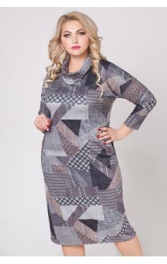 платье Лучано (серый/лоскуты)
