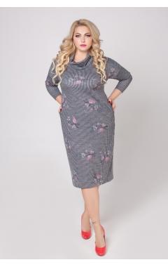 платье Лучано (полоска/цветок)