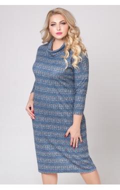 платье Лучано (полоска/синий)