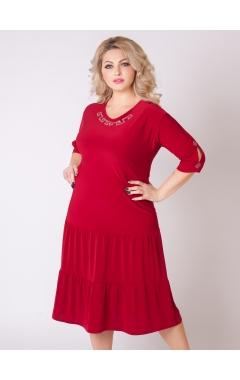 платье Лирика (бордовый)