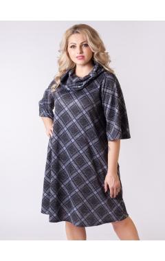 платье Клетка (клетка/серый)