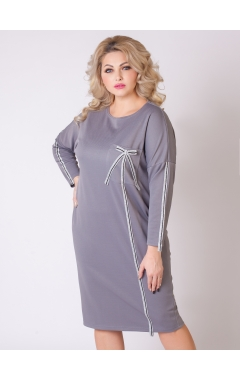 платье Лента (серый)