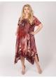 платье Асти (коричневый/принт город)