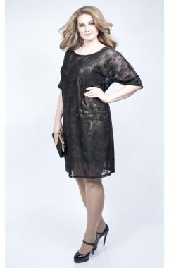 Платье Саманта (голд/черный)
