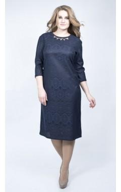 Платье Золла (синий темный)