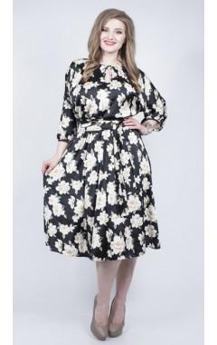 Платье Марго (черный/цветы)