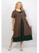 Платье Сардиния (тёмно-зеленый/графика)