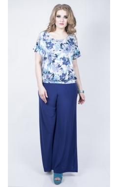 Блуза Кристи (цветы синие)
