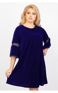 Платье Алла Велюр (электрик)