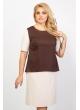 Платье Анна Шик (бежевый/коричневый)