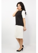Платье Анна Шик (чёрно-белый)