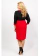 платье Арлетт (бордовый/чёрный)