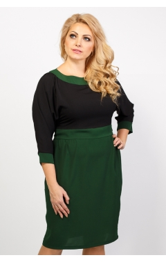 платье Арлетт (зелёный/черный)