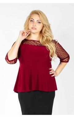 Блуза Баска (бордо)